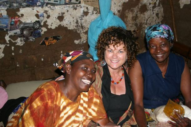 visiting the homes of one of the women with HIV